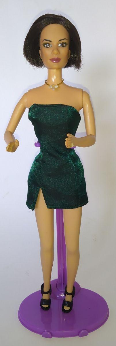 Muñeca Barbie Victoria Beckham Spice Girls verde