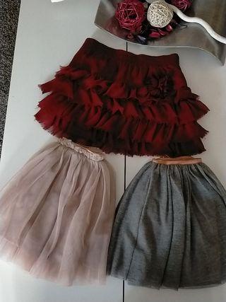 lote faldas tul Zara 6 años