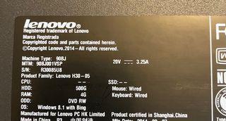 Ordenador sobre mesa Lenovo