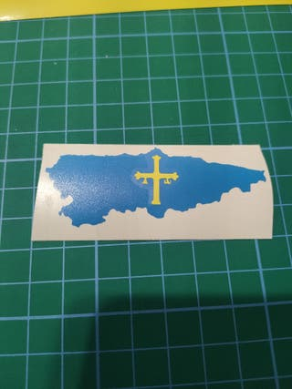 pegatina bandera asturiana