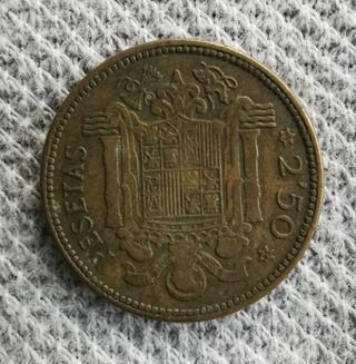 Moneda 2,5 peseta 1953