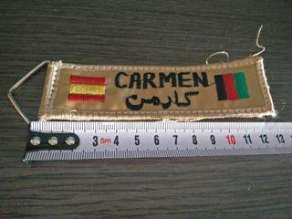 Llavero Carmen. España - Afganistan.