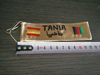 Llavero Tania . España - Afganistan.
