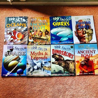 100 Facts Set of 8 New Children's Books