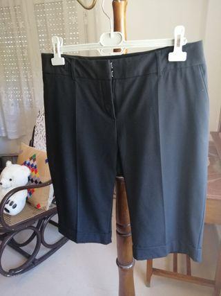 Bermudas pantalón negro mujer