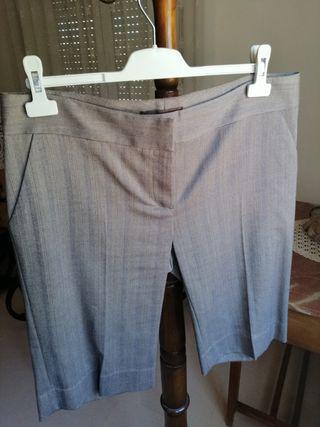 Bermudas pantalón gris mujer