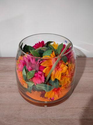 Jarrón, florero adorno de cristal