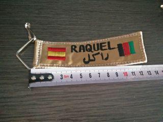Llavero Raquel . España - Afganistan.