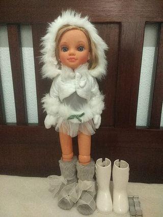 muñeca nancy patinadora brillo en la nieve