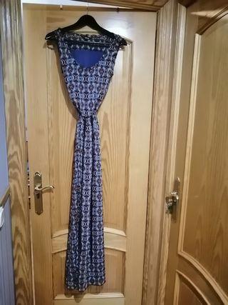 vestido largo ajustable en cintura