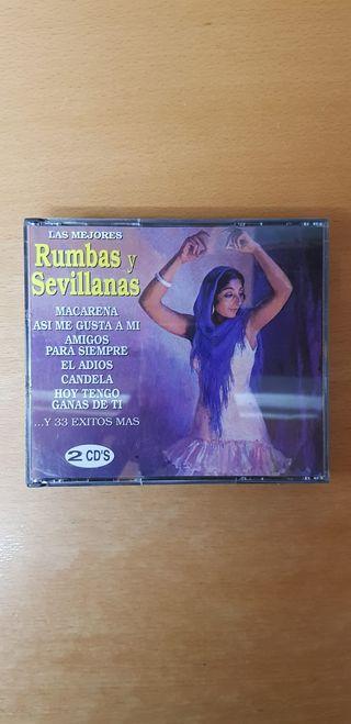 LAS MEJORES RUMBAS Y SEVILLANAS. DOBLE CD.