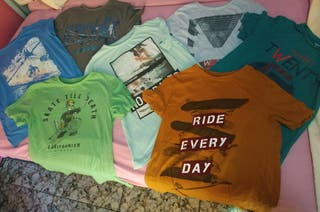 13 Camisetas Talla S ( 16 Años)