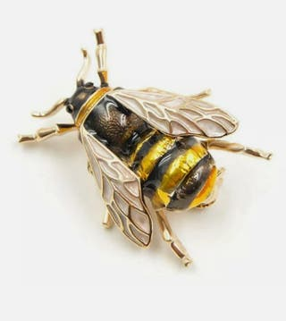 Bumblebee Brooch Men Women Lapel Pin