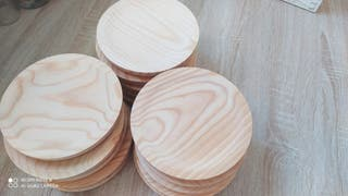 Platos madera pulpo