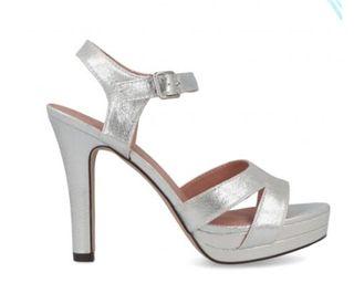 Zapatos plateados de fiesta Menbur