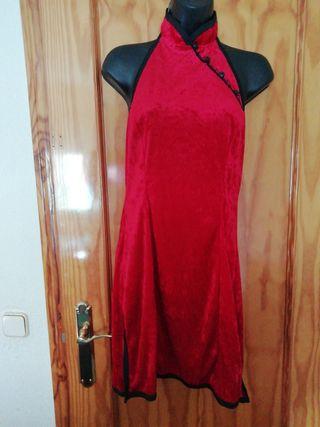 vestido de terciopelo estilo japonés