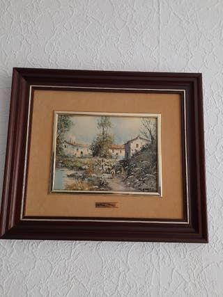 cuadros esmaltados antiguos ,de buena calidad