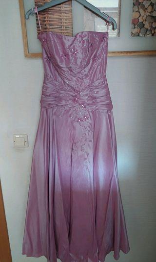 Vestido largo boda lila/malva