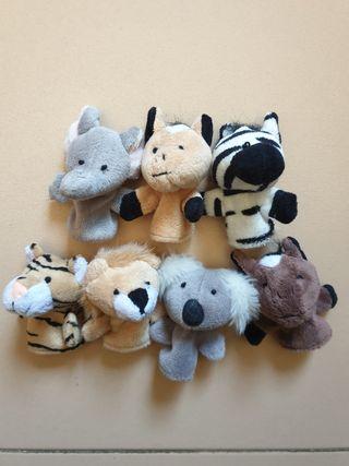 Set 7 marionetas de dedo animales