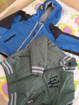 abrigo niño talla 4 son 2 unidades