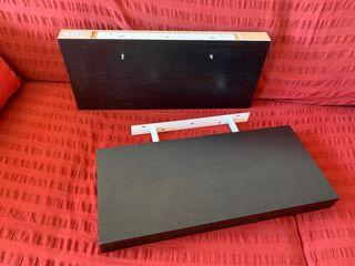 Dos Estantes de pared, negro-marrón IKEA - PERSBY