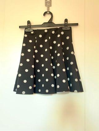 Falda de lunares de Zara talla S
