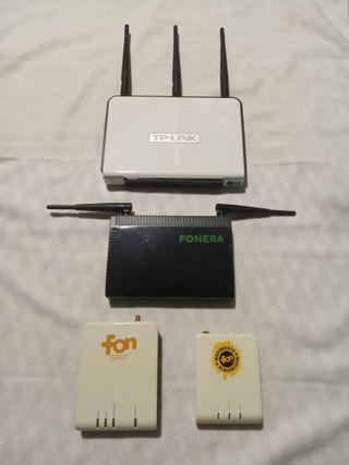 Lote Routers Wifi - Foneras + Antena 7 dBi Omni