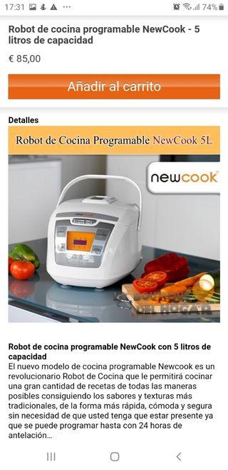 robot de cocina a estrenar no le doy uso