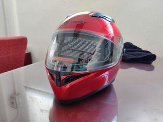 Casco Moto Rojo Visera solar a estrenar Xl
