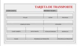 tarjeta de transporte recién renovada