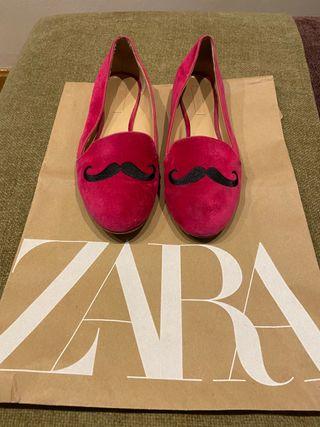 Mocasines slippers terciopelo Zara - N.38