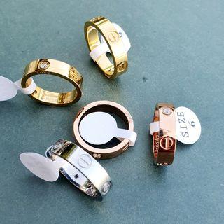 anillo acero inox love