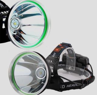Linterna lampara de cabeza para pesca camping.