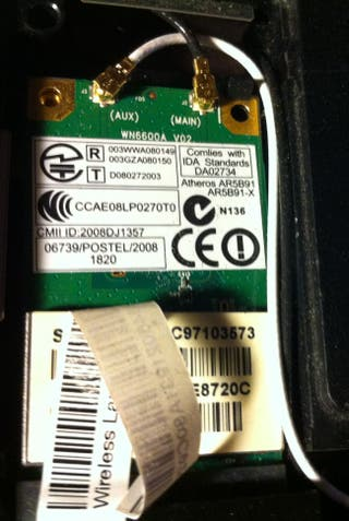 Tarjeta de red inalámbrica (Wi-Fi). Wireless Card