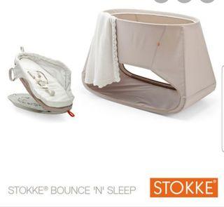 Stokke bounce and Sleep. Stokke