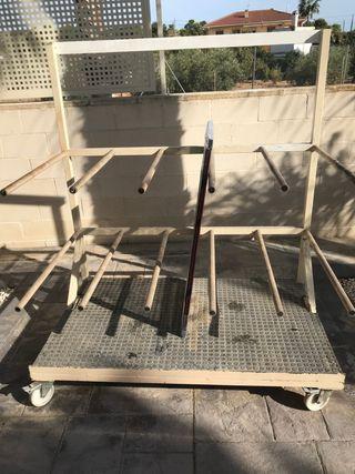 Carro para perfiles y carpintería de aluminio