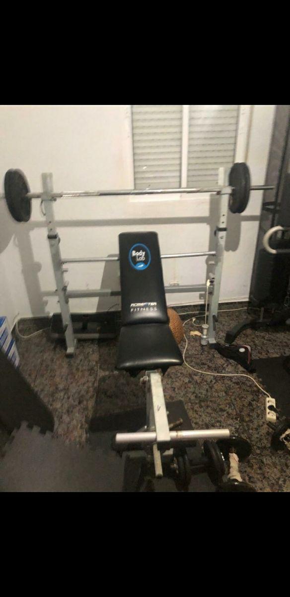 gym completo con mancuernas todo