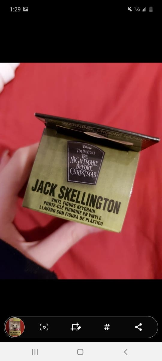 Special Edition Jack Skellington POP Vnal Keychain
