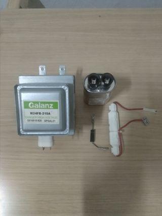 Magnetrón y componentes microondas