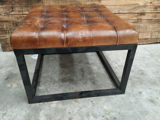 Industrial mesa asiento piel