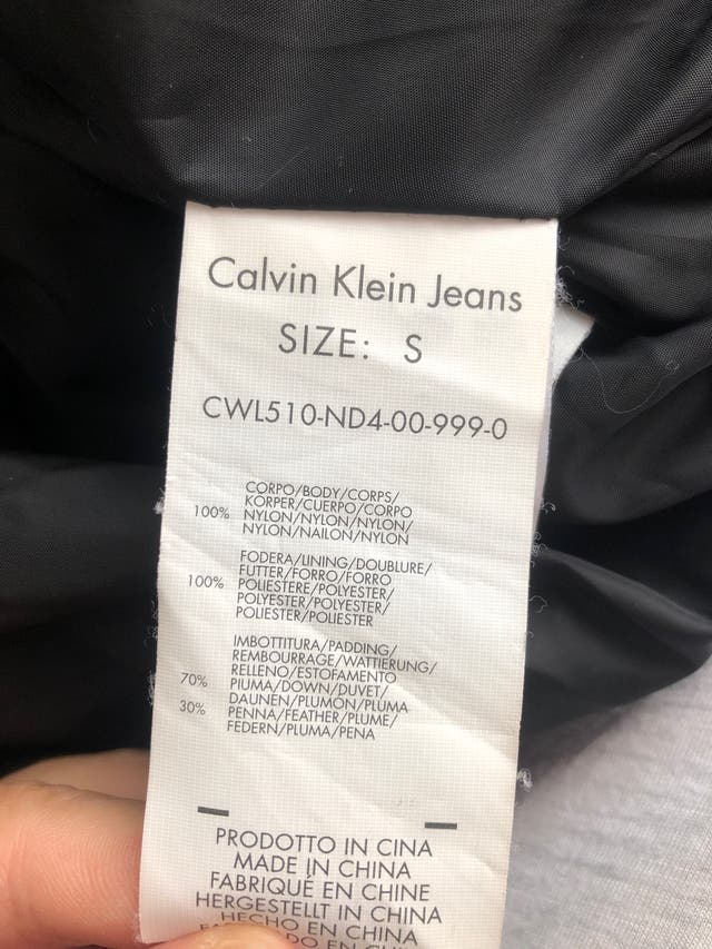 Plumas Calvin Klein Talla S
