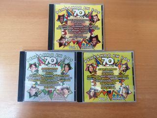 PENSANDO EN LOS 70. LOTE TRES VOLÚMENES (CDs).