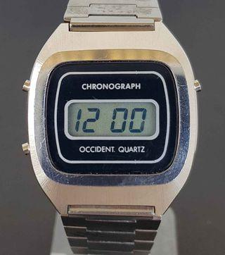 922-Reloj OCCIDENT,digital,cronografo,VINTAGE. NOS