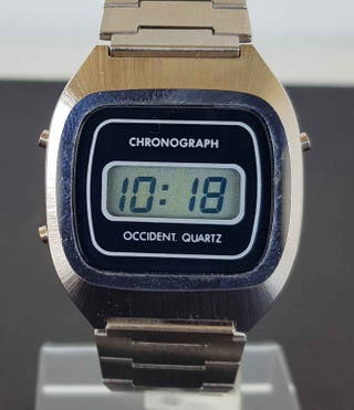 923-Reloj OCCIDENT,digital,cronografo,VINTAGE. NOS
