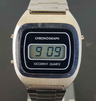 921-Reloj OCCIDENT,digital,cronografo,VINTAGE. NOS