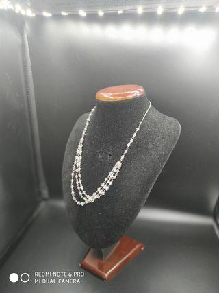 collar de plata y cristal Swarovski