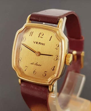 917-Reloj VERNI DE LUXE, de cuerda, VINTAGE. NOS