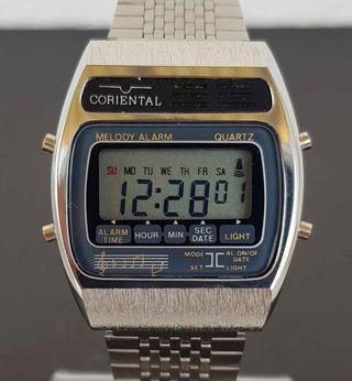 925-Reloj CORIENTAL,digital, VINTAGE. NOS