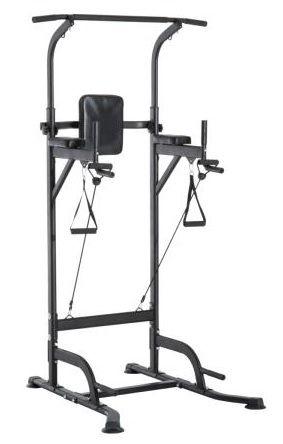 Torre para ejercicios dominadas, abdominales