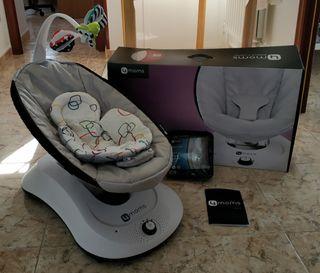 Pack Hamaca Eléctrica 4moms + Cojín Reductor Bebés